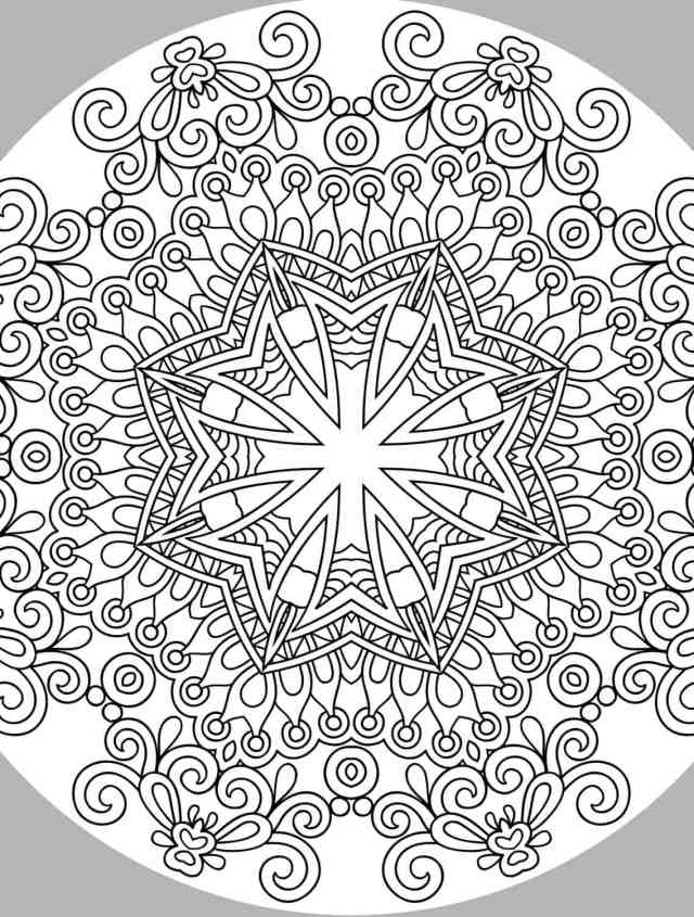 20 Free Printable Holiday Adult Coloring Pages
