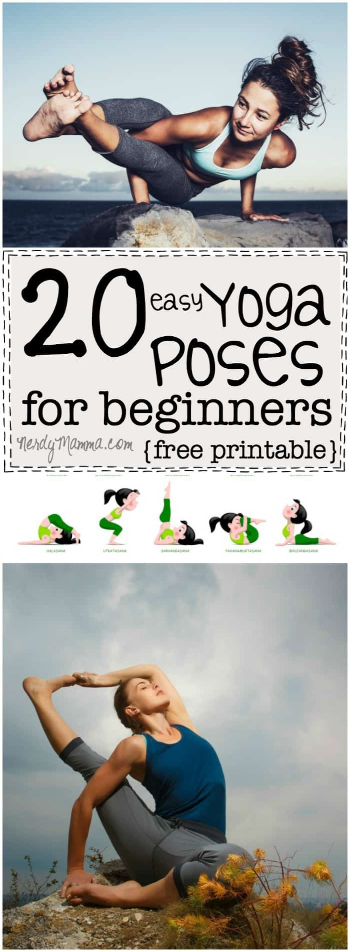 20 Simple Nail Designs For Beginners: 20 Easy Yoga Poses For Beginners With A Free Printable