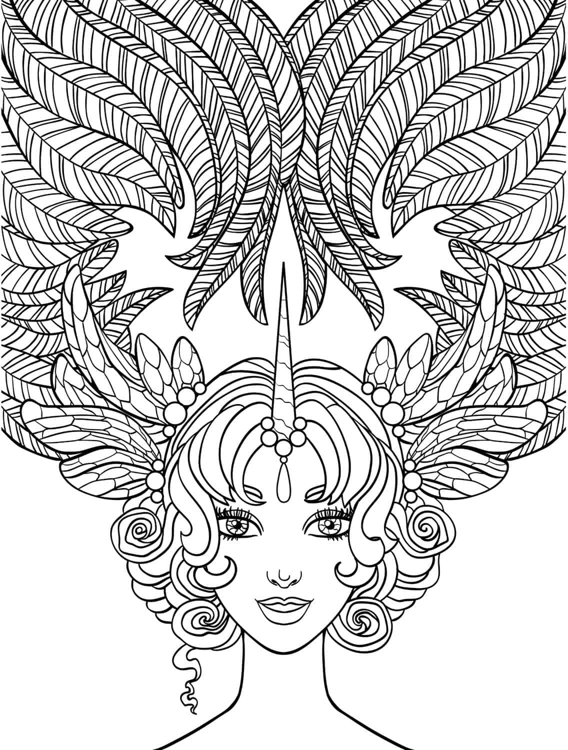 10 Crazy Hair Adult Coloring Pages Page 11 Of 12 Nerdy Mamma