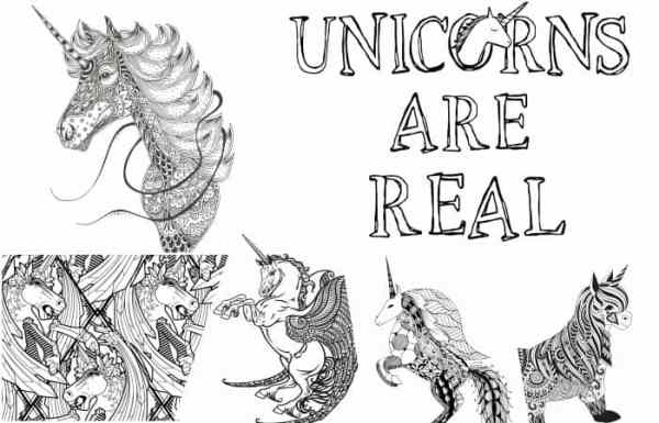 printable unicorn coloring pages # 21