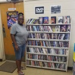 A Rienzi library patron posing for Snapshot Day!