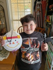 Cole did the October Crafts and they even have names!