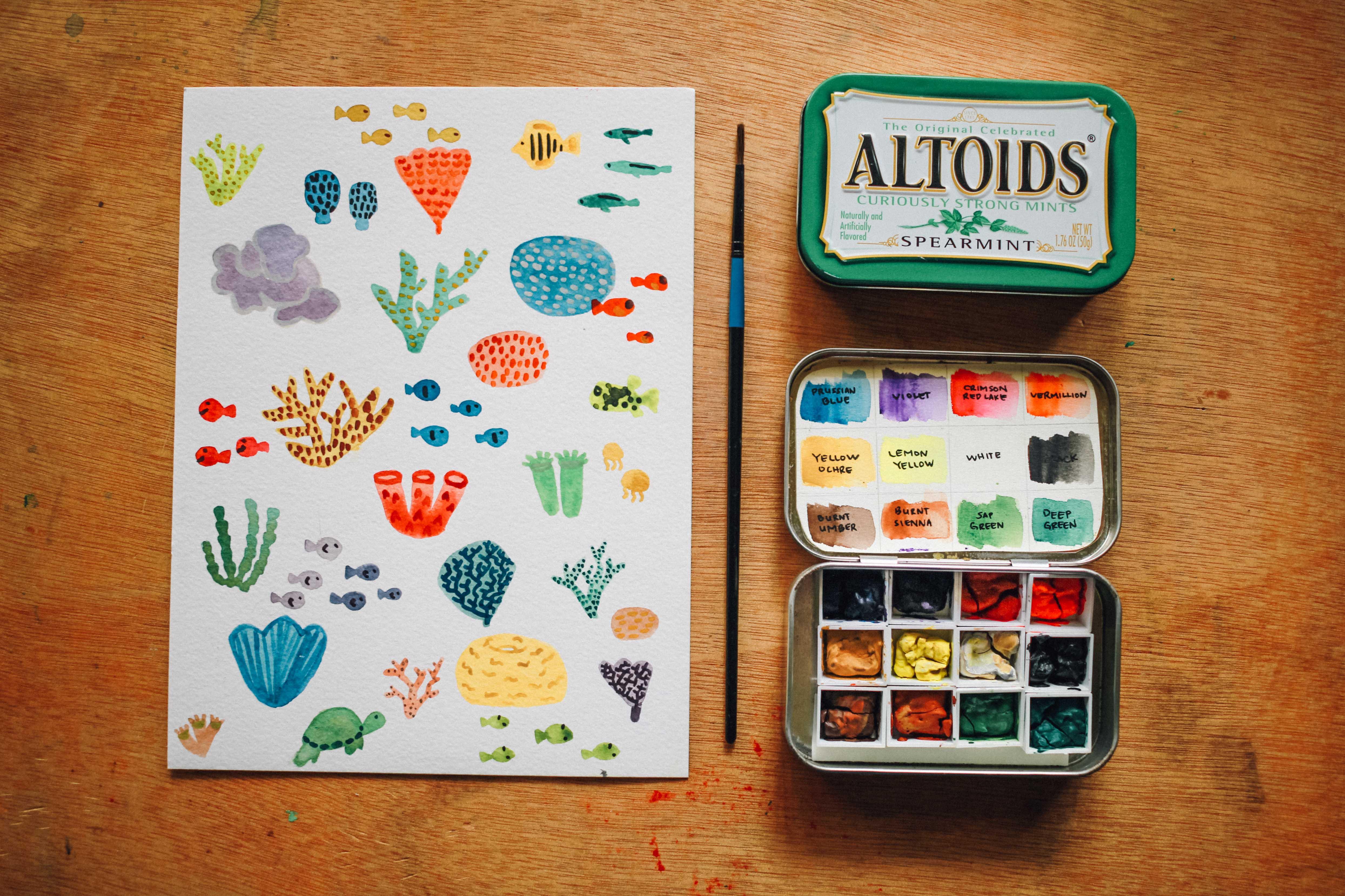 CREATE: DIY Altoids watercolor travel palette