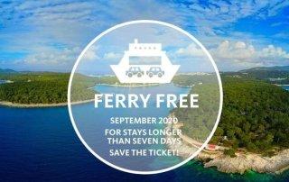 Free ferry to Losinj
