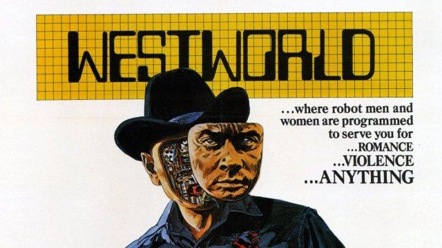 A promo image for the original 1973 film: Westworld
