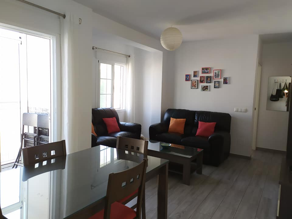 Nerja apartment 3 bedrooms Parador area with terrace facing west