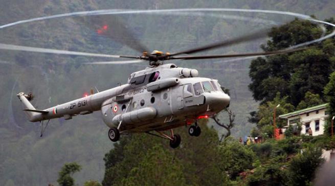 वायु सेना के लापता हेलिकॉप्टर का मलबा बरामद
