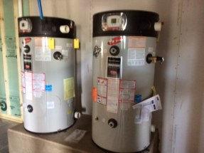 2 Bradford White eF Series water heaters at Camillus Country Club