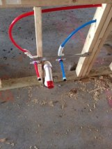 Uponor PEX stub out with Holdrite
