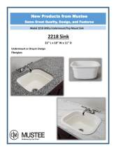 Mustee 2218 Undermount sink sell sheet