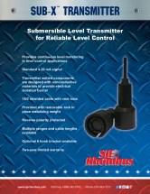 SJE Rhombus Sub-X Transmitter Sell Sheet Front