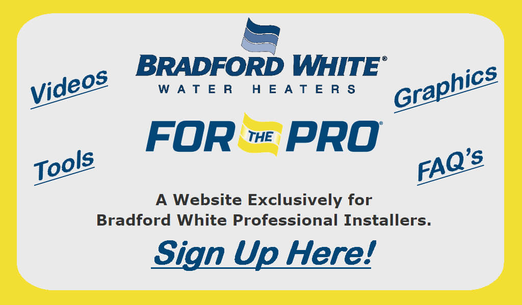 Bradford White Homepage Button - For the Pro Website