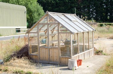 building greenhouse rustic