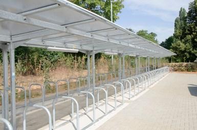 contemporary building bike rack