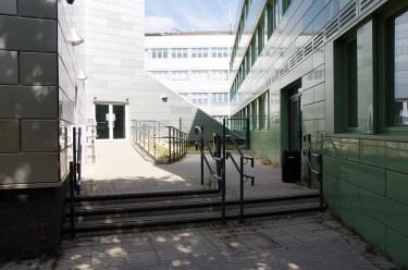 contemporary stairway walkway building