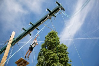 high ropes climbing sporting