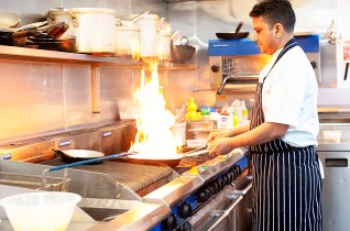 Indian restaurant for film location use. Plenty of natural light, free parking. Ewell, Epsom.