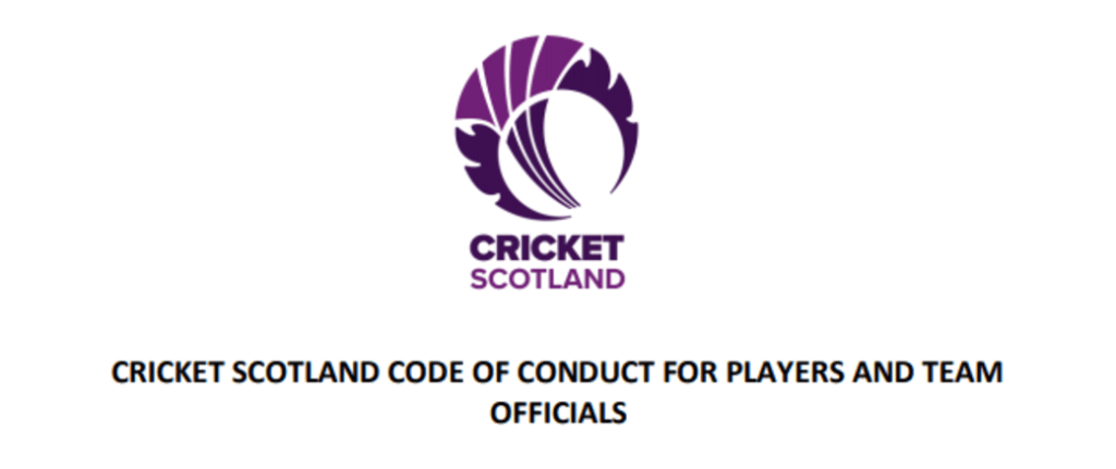 Download the Cricket Scotland Code of Conduct for players and team officials
