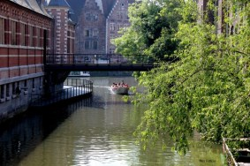 ghen belgium medieval canal boat ride