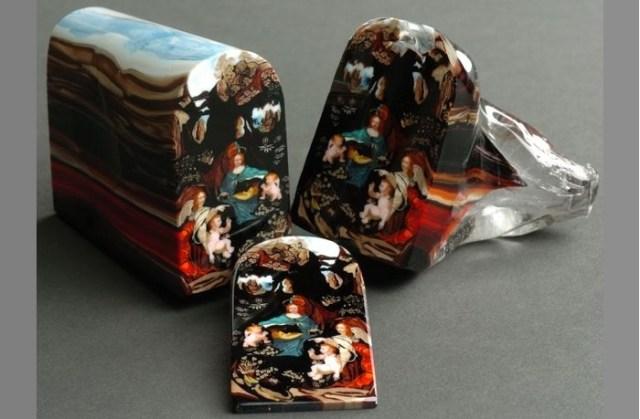 Картины миллефиори от Лорена Стампа.