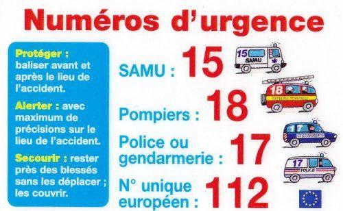 Adresses utiles et numéros d'urgences