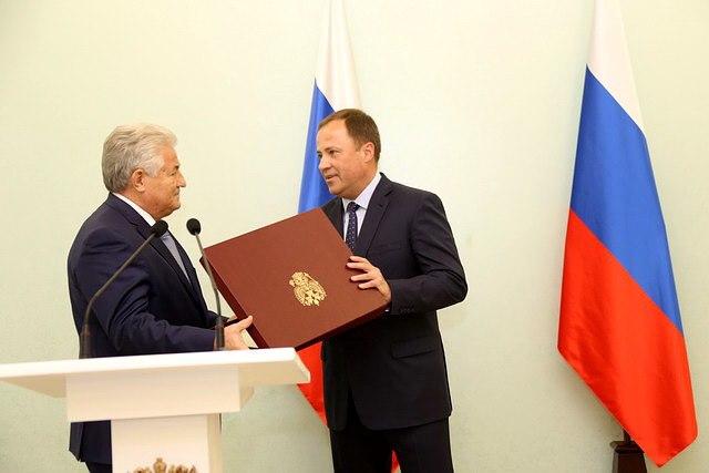 Котельникову передали грамоту от Путина