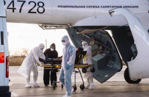 За прошедшую неделю служба санавиации Самарской области эвакуировала 16 пациентов в тяжелом состоянии