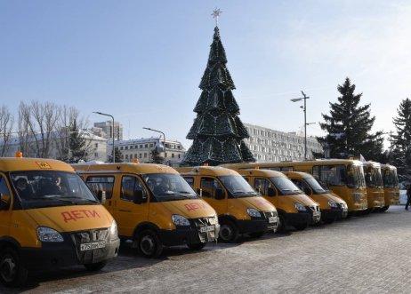 Школы Самарской области получили новые автобусы
