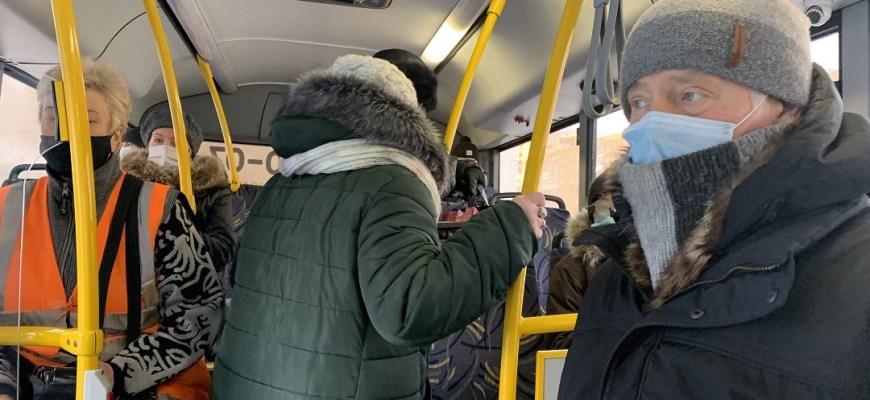 10 тысяч  самарцев не были допущены к общественному транспорту из-за нарушения масочного режима