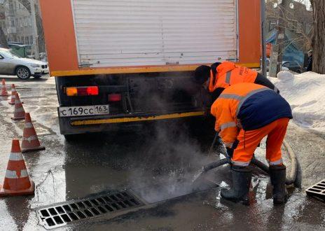В Самаре продолжается подготовка к пропуску талых вод