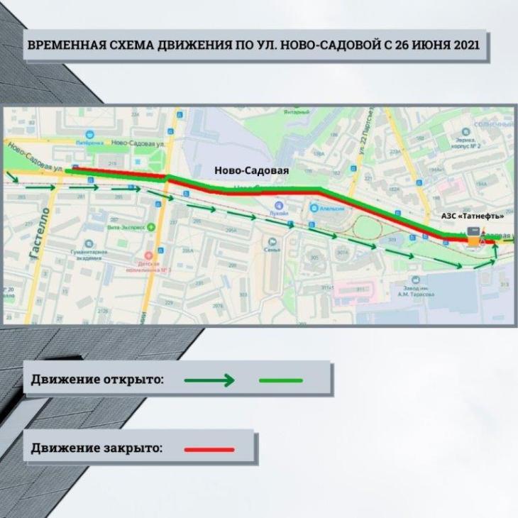 Стали известны сроки поэтапного перекрытия улицы Ново-Садовой в Самаре