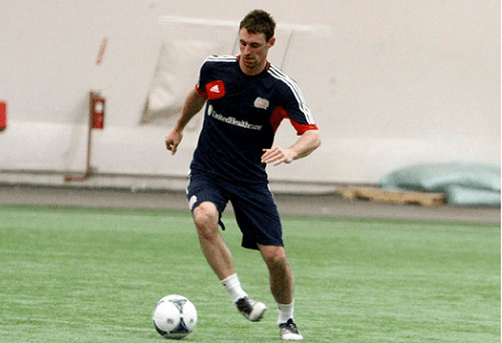 Andy Dorman, seen here during preseason training on Monday, is back for a second stint with the Revolution. (Photo: Chris Aduama/aduama.com)