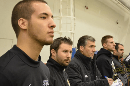 Real Boston Rams coaches look on during a recent tryout held at Dana Farber Fieldhouse in Foxborough. (Photo: Real Boston Rams)