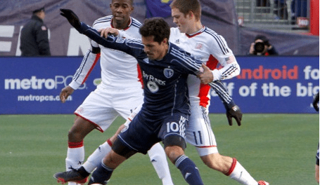 Former Revolution midfielder Benny Feilhaber returned to Gilette Stadium on Saturday. (Photo: Chris Aduama/aduama.com)