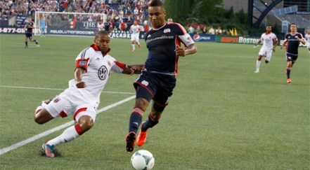 Juan Agudelo has proven a great addition in his short time with the Revolution, but with his contract due to expire at the end of the season, keeping the striker long term appears a tall task with interested reported from Europe. (Photo: Chris Aduama/aduama.com)