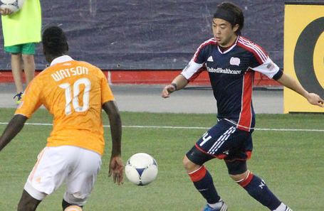 Lee Nguyen and the Revolution attack need to do better against the Dynamo this week (Photo: Kari Heistad/capturedimages.biz)