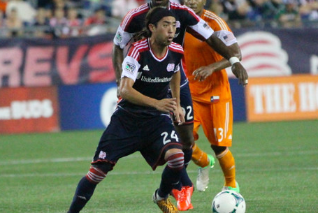 Lee Nguyen tries to spark the attack during the second half of Saturday's game against the Dynamo, which the Revolution lost 2-1. (Photo: Kari Heistad/capturedimages.biz)