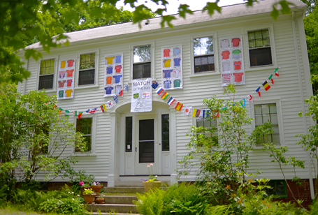 Jim Dow decorated his house for the World Cup.