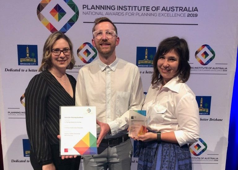 Creating Liveable Cities report awarded National Research Excellence Award