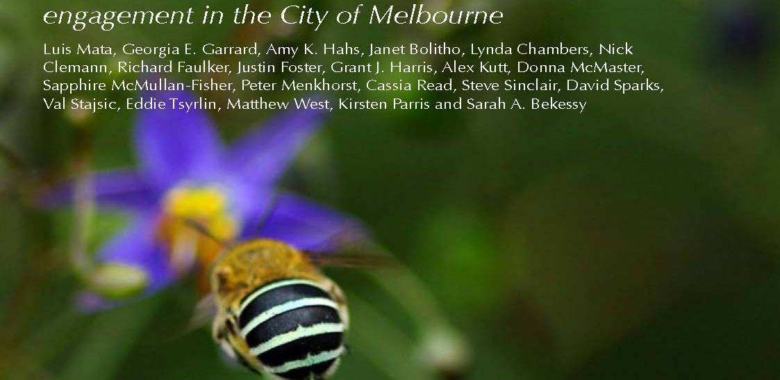 Target species for rewilding, monitoring and public engagement in the City of Melbourne