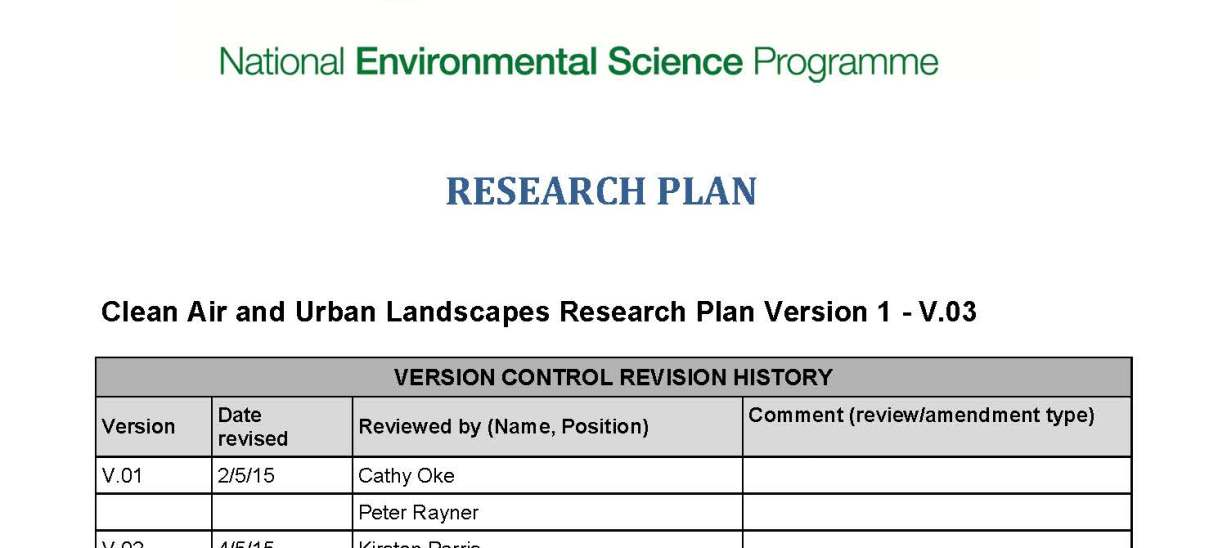 Research Plan 1