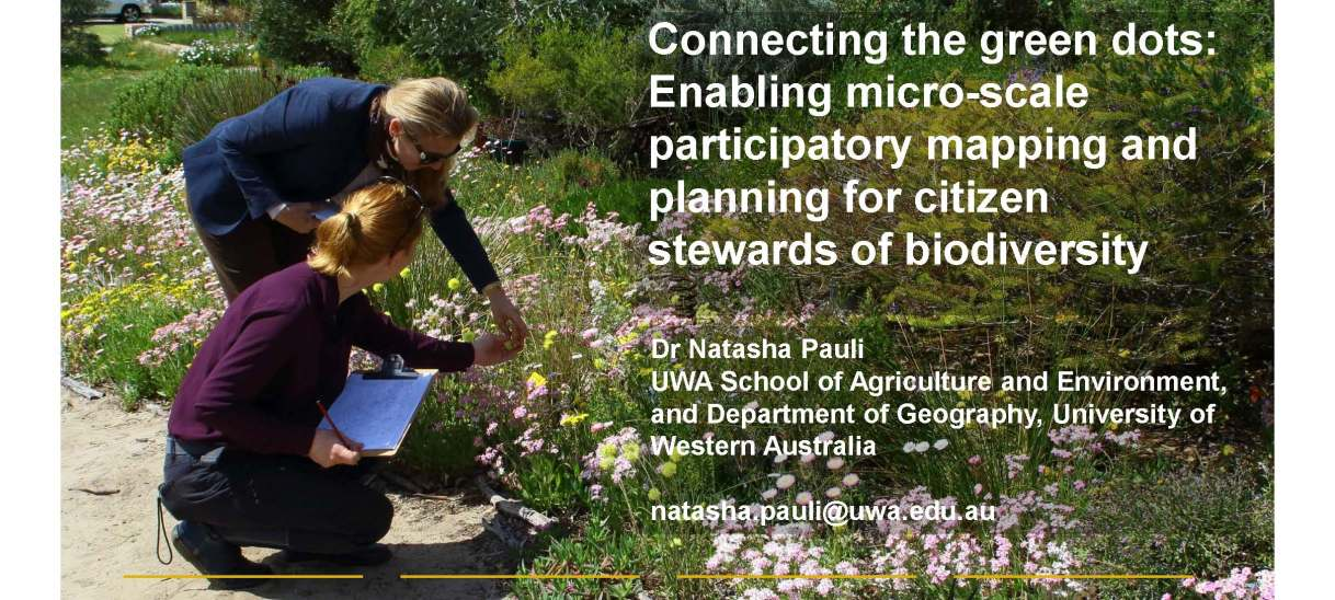 Connecting the green dots: Enabling micro-scale participatory mapping and planning for citizen stewards of biodiversity. EGU General Assembly 2020.
