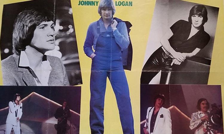 Assortment of Johnny Logan photos compiled into a poster - nessymon.com