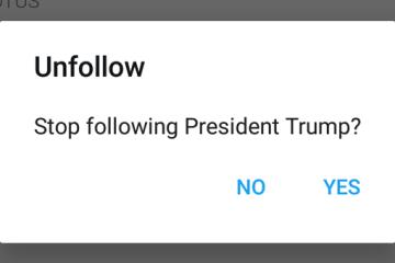 Stop following President Trump