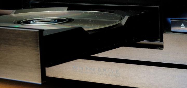 CD in tray