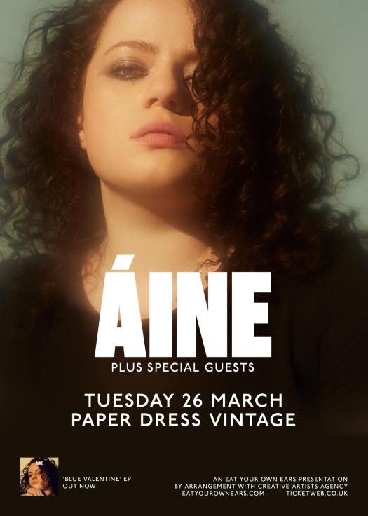 Poster for Áine at Paper Dress Vintage, London,