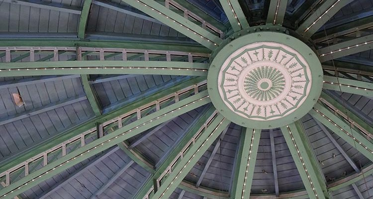 The inside of the roof of the amusement arcade on Brighton Pier