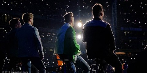 Westlife on stage in Croke Park