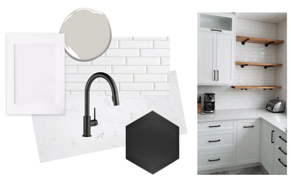 Kitchen design board – NEST & NOURISH