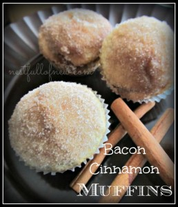 Bacon Cinnamon Muffins